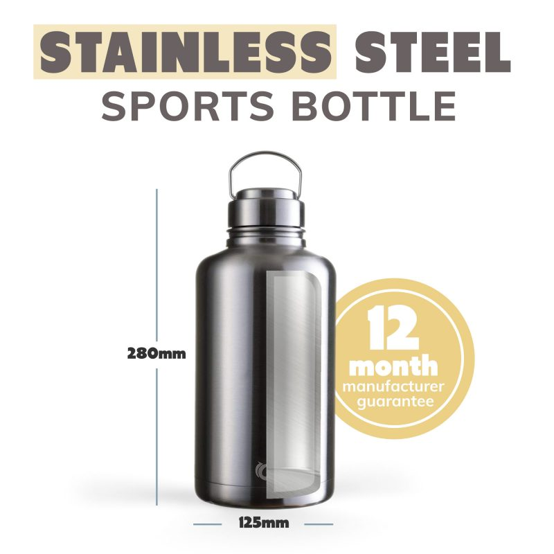 insulated stainless steel beer growler 2 litre bottle