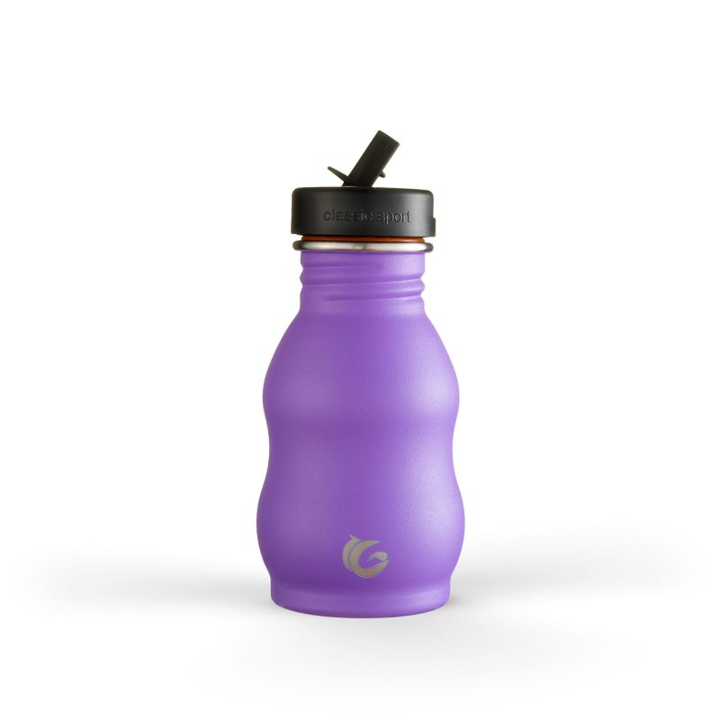 Curvy purple stainless steel bottle