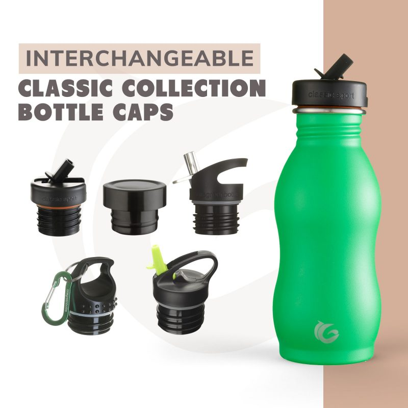 green curvy stainless steel onegreenbottle