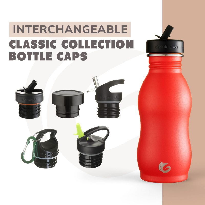 red curvy stainless steel onegreenbottle